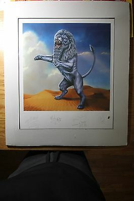 The ROLLING STONES Bridges to Babylon Lithograph Art Print Matted Special SALE!