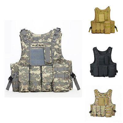 Tactical Vest Military CS War Game Molle Combat Camo Molle Oxford Waterproof