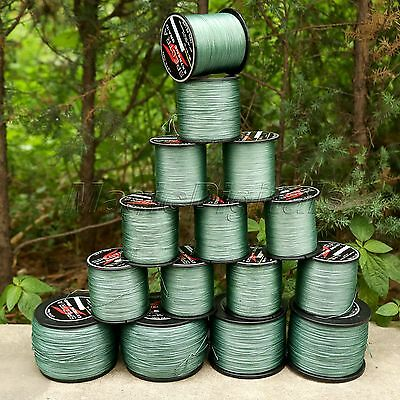 300-1000M 8 Strands Spectra PE Dyneema Braid Fishing Line 12LB-160LB Green