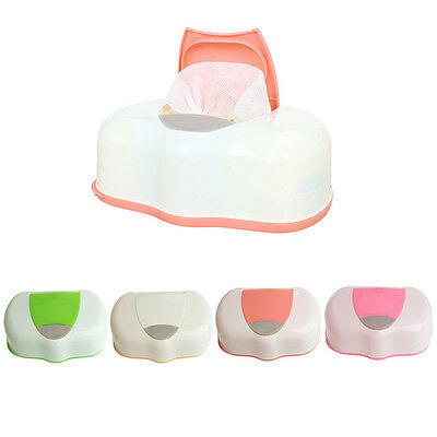 4 Color Plastic Wet Wipes Storage Case Box Refillable Container 80 Sheets