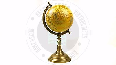 New Antique Style World Globe For Home Decor ,Office Desk, Study Free Delivery