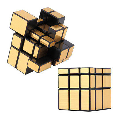 3X3X3 Speed Gold Irregular Mirror Twist Puzzle Cube Smooth Magic Toy Novelty Fun