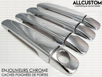 CHROME DOOR HANDLE COVERS CAPS MOLDING for MERCEDES R170 SLK CLASS 170 1996-2003