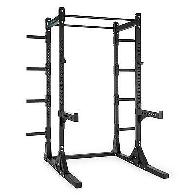 Capital Sports Half Rack Power Machine Squat Pull Up Bars Weight Disc Storage