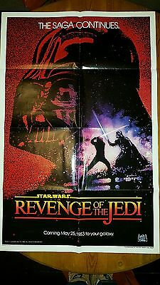 Revenge of The Jedi US Movie Poster One Sheet 100% Authentic.