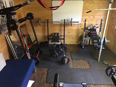 York Weight Lifting Bench and Lat Curl for weight training Gym Fitness