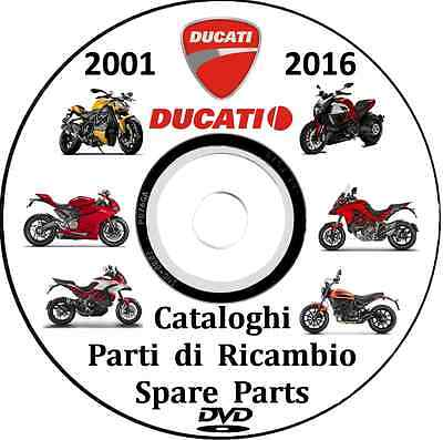 DUCATI Monster,Diavel,Superbike,295 cataloghi parti ricambio 2001/2016