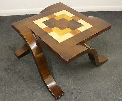 Antique Art Deco Style Coffee | Side | Inlaid Occasional Table | Rosewood - C428