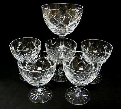VINTAGE Webb Corbett cocktail or champagne glasses ~ Prince of Wales pattern