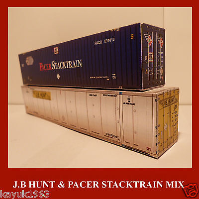 PACER, CSX, UBC OO Random Mix Shipping Container Card Kits x6 of the Best
