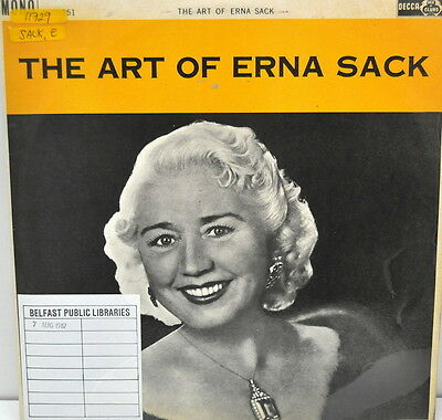 The Art of Erna Sack,  Ace Of Clubs – ACL.151, 1962, Vinyl