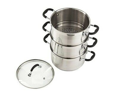 Stainless Steel 3 Tier Induction Steamer Baking And Cooking Food Steamer