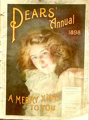 Original 1898 Pears Soap Annual, many full page Pears & other adverts, health