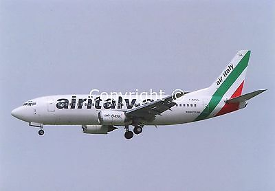 Air Italy Boeing 737-33A I-AIGL Landing at Madrid (MAD) June 2007 Postcard