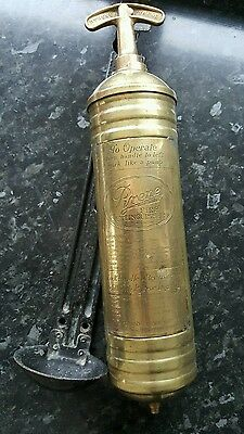 Vintage car, Truck, Pyrene fire extinguisher  and bracket. WW2 military vehicle