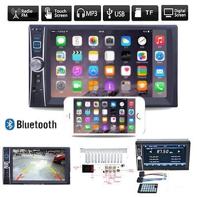 """7"""" HD 2DIN ^Touch CAR Stereo Radio Audio MP3 Player Bluetooth USB/TF/FM/AUX GPS"""