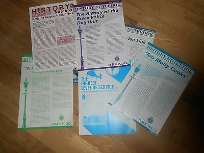 Collection of 6 Essex Police Force History Notebooks and Leaflet