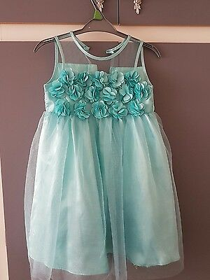 bridesmaid flower girl wedding dress / party dress age 8 years blue turquoise