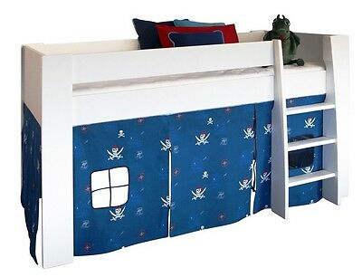 Children's Pirate Play Curtain For Mid Sleeper Beds