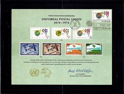 1974 - New York - Nations Unies - Union Postale Universelle