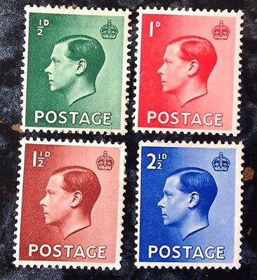 GB KEVIII Stamps SG457-460 M/M