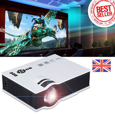 6000 Lumens Full HD 1080P LED LCD VGA HDMI TV Home Theater Projector Cinema