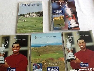 OPEN GOLF CHAMPIONSHIP PROGRAMMES - ST ANDREWS 1990&95 TROON 1997 LYTHAM 2001 x2