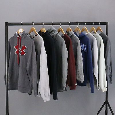 WHOLESALE VINTAGE HOODIE & SWEATER JOBLOT Mens Branded Mix Grade B Bundle X10