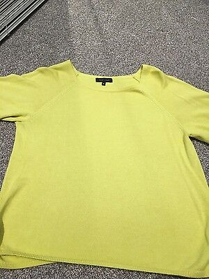 Ladies yellow jumper New Look size 8