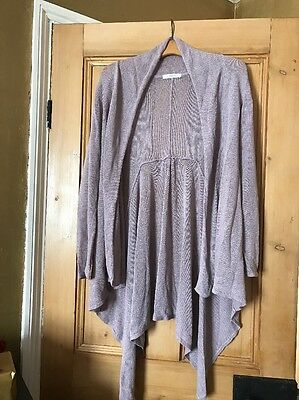 Lilac Cardigan Size 14 Marks And Spencer's Waterfall Langenlook