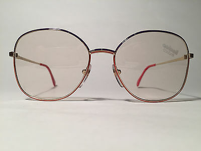 Vintage Actuell Couture Act. 563 (919) 54[]16 135 Gold Lila Rot Rund Brille NOS