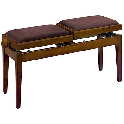 Rocket Double Piano Bench Walnut