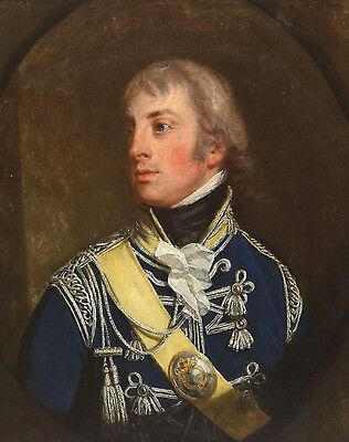 Fine 18th Century Portrait of Horatio Nelson British Navy Antique Oil Painting