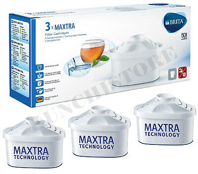 Pack of 3 BRITA MAXTRA Water Filter Cartridges Replacement Water Jug Filters NEW