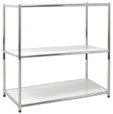 Library Shelf Chrome Librerie Office 3 Slice White Scratchproof 40x80x80