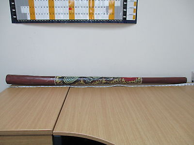 """Hand Carved and Hand Painted 52"""" Wooden Didgeridoo"""