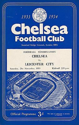 Chelsea Reserves v Leicester City (Combination) 1953/4