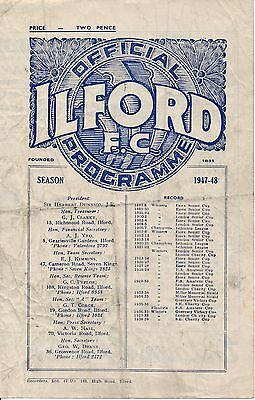 Ilford v Wycombe Wanderers (FA Amateur Cup) 1947/8