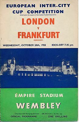 London v Frankfurt (Fairs Cup) 1955/6