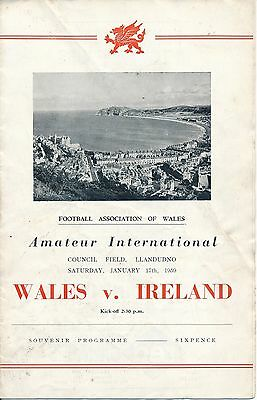 Wales v Northern Ireland (Amateur International @ Llandudno) 1959