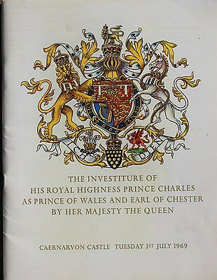 The Investiture of HRH Prince Charles as Prince of Wales 1969 Souvernir Programm