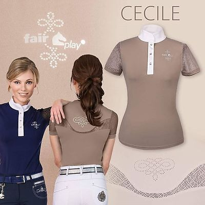 New!! Fair Play Cecile Ladies Competition Shirt In Beige
