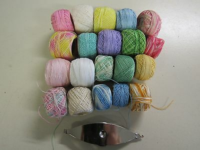 Mixed Lot Of  Assorted Tatting Threads & Shuttle