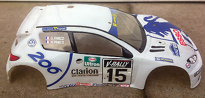 Thunder Tiger Peugeot 206 1/10th Nitro/Electric RC Car Body Shell Cover Top Lid