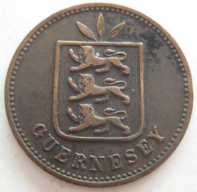 Guernsey 4 Doubles 1885 VF circulated proof only issue #131
