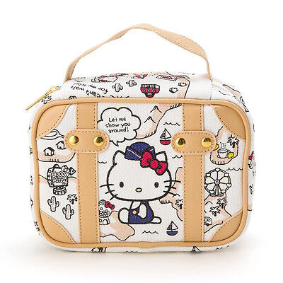 Hello Kitty Canvas Pouch Travel Trunk ❤ Sanrio Japan
