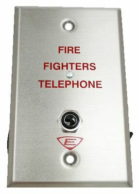 (New) Edwards  6833-4 - Firefighters Telephone Wall Plate