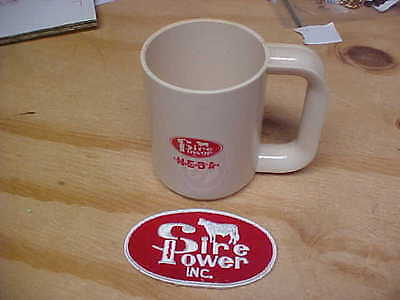 Vintage Sire Power Inc patch and mug artifical breeders cows