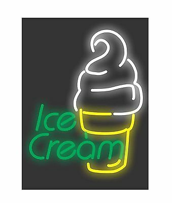 Store shop retail Ultra bright neon LED sign display - Ice cream cone