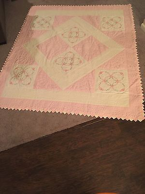 Hand Embroidered Hand Quilted Made In 60s